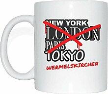JOllify WERMELSKIRCHEN Kaffeetasse Tasse Becher Mug M1239 - Farbe: weiss - Design 3: Graffiti Streetart New York