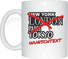 JOllify WUNSCHTEXT Kaffeetasse Tasse Becher Mug