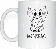 JOllipets ANDREAS Namen Geschenk Kaffeetasse Tasse