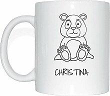 JOllipets CHRISTINA Namen Geschenk Kaffeetasse