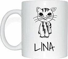 JOllipets LINA Namen Geschenk Kaffeetasse Tasse
