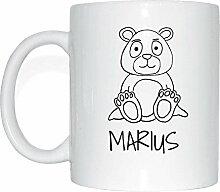 JOllipets MARIUS Namen Geschenk Kaffeetasse Tasse