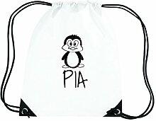 JOllipets PIA Turnbeutel Sport Tasche PGYM5851 – Design: Pinguin