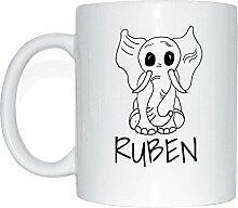 JOllipets RUBEN Namen Geschenk Kaffeetasse Tasse