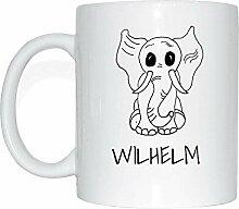 JOllipets WILHELM Namen Geschenk Kaffeetasse Tasse