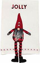 Jolly, baumelndes Handtuch mit Zwergen-Beinen.