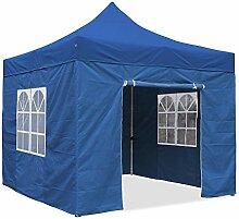 JOM Falt-Pavillon, 3 x 3 m, blau, Profi