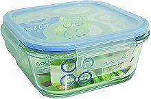 Jomafe Cook & Care–Vorratsdose aus Glas, quadratisch 500 ml durchsichtig