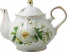Jomop Teekanne aus Keramik mit Blumenmuster,