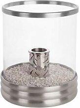 JonaFire Tischkamin Glasfeuer Aluminium gebürstet