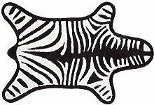 Jonathan Adler Badematte Zebra, schwarz schwarz