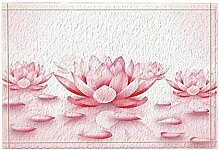 JoneAJ 3D gedruckt rosa Lotus Blume Bad teppiche