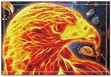 JoneAJ Abstrakte Malerei Feuer Huhn Bad Teppiche
