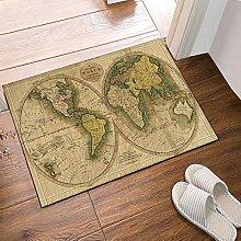 JoneAJ Alte Welt Karte Bad Teppiche rutschfeste