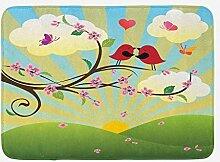 JoneAJ Blumenlandschaften Badematte Romantische