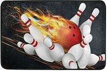 JoneAJ Bowling Flamme Fußmatte Wohnzimmer