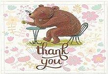 JoneAJ Cartoon Bad Teppiche von lustige Bär und