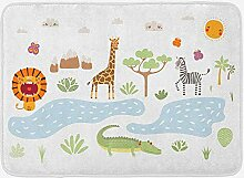 JoneAJ Crocodile Bath Mat Doodle Design von