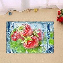 JoneAJ Erdbeeren im EIS Badteppiche rutschfeste