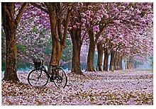 JoneAJ Fahrrad Bad Teppich Bäume und Fahrräder