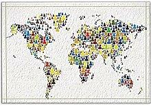 JoneAJ Farbige Zeichnung Menschen Karte Bad