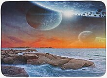 JoneAJ Galaxy Badematte Planet Landscape View von