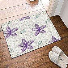 JoneAJ Handgemachte lila und Blätter Bad Teppiche
