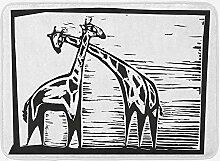 JoneAJ Haushalt Teppich Giraffe Badematte