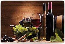 JoneAJ Haushaltsteppich Weinglas Rot Weißwein