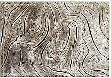 JoneAJ Holz Rad Baum Ring Breite Bad Teppiche