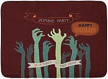 JoneAJ Home Teppich Halloween Badematte Zombie