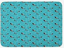 JoneAJ Home Teppich Nestling Badematte Tropische