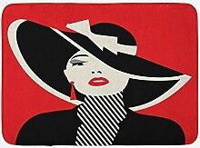 JoneAJ Mode Badematte Französische Stil Ikone in