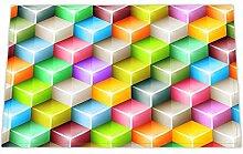 JoneAJ Multicolor quadratische Treppe Bad Teppiche