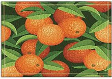 JoneAJ Ölgemälde Navel Orange Bad Teppich