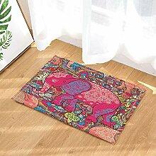 JoneAJ Pink Elephant Pattern Home willkommen