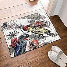 JoneAJ Tinte waschen Malerei Papagei Orchidee Bad