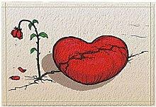 JoneAJ Valentinstag Dekor Rosen Wither Herz Riss