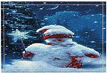 JoneAJ Weihnachten Bad Teppiche Schneemann hielt
