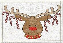 JoneAJ Weihnachten Badteppiche Cartoon Rentier
