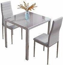 Joolihome Esstisch und Stühle, 2er-Set,