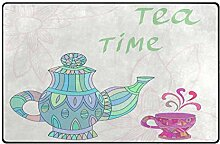 JOOMI Bunter Teekanne Tasse Zeit Blumenbereich