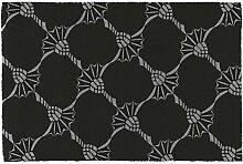 JOOP! CORNFLOWER ALLOVER Designer Badteppich | Badematte 015 Schwarz 60 x 90 cm