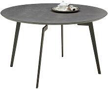 Joop! ESSTISCH rund Grau , Metall, 125x75 cm