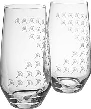 Joop Longdrinkglas JOOP FADED CORNFLOWER, (Set, 2