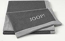 JOOP! Wohndecke Resort Doubleface anthrazit - 150x200 cm leichte Wohndecke/Sofadecke