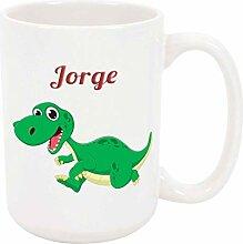 Jorge Dinosaur 11oz Kaffee- oder Teetasse Weiße