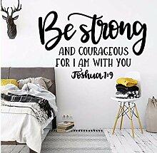 Joshua 1: 9 Be Strong Quotes Wandkunst Aufkleber