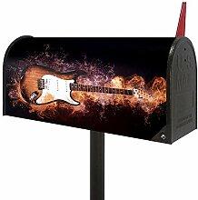 Josid Fire Burning Guitar Große