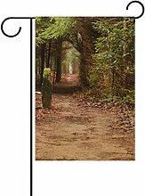 Josid Garten Flagge Banner Holz Baum Nature Path
